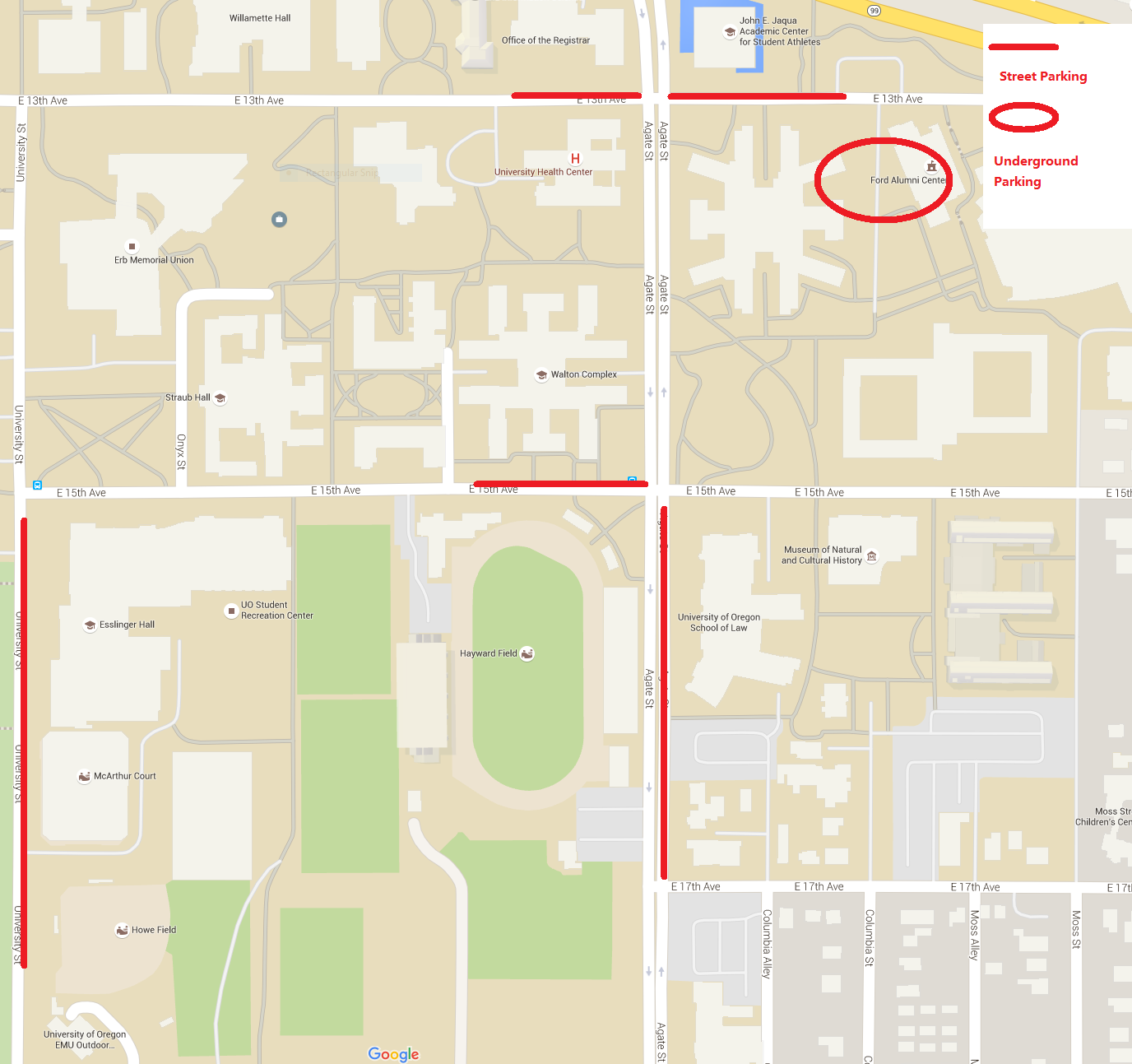 Oregon cyber security day for more information regarding reserved parking please contact the department of parking and transportation at 541 346 5444 here is a brief map showing freerunsca Image collections